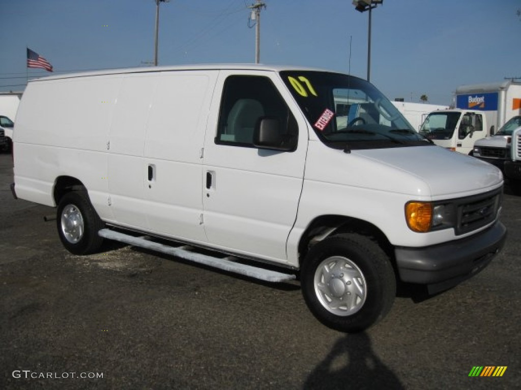 oxford white 2007 ford e series van e250 cargo exterior. Black Bedroom Furniture Sets. Home Design Ideas