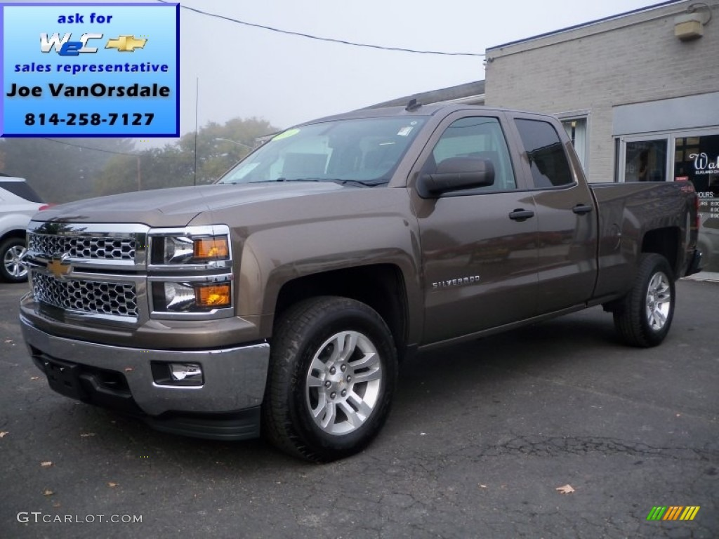 2014 brownstone metallic chevrolet silverado 1500 lt double cab 4x4 86260539. Black Bedroom Furniture Sets. Home Design Ideas