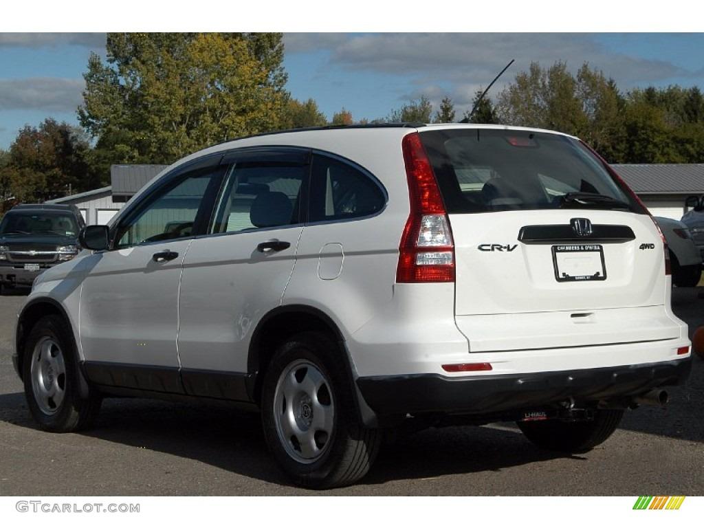 2010 CR-V LX AWD - Taffeta White / Gray photo #2