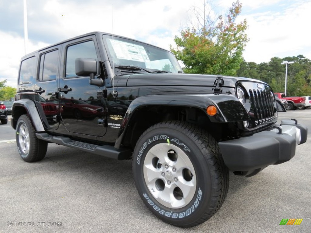 black 2014 jeep wrangler unlimited sahara 4x4 exterior. Black Bedroom Furniture Sets. Home Design Ideas