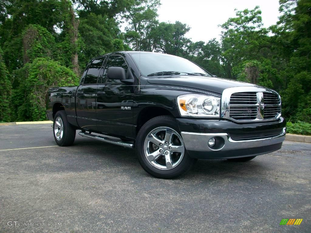 2008 brilliant black crystal pearl dodge ram 1500 big horn edition quad cab 8591286 gtcarlot. Black Bedroom Furniture Sets. Home Design Ideas