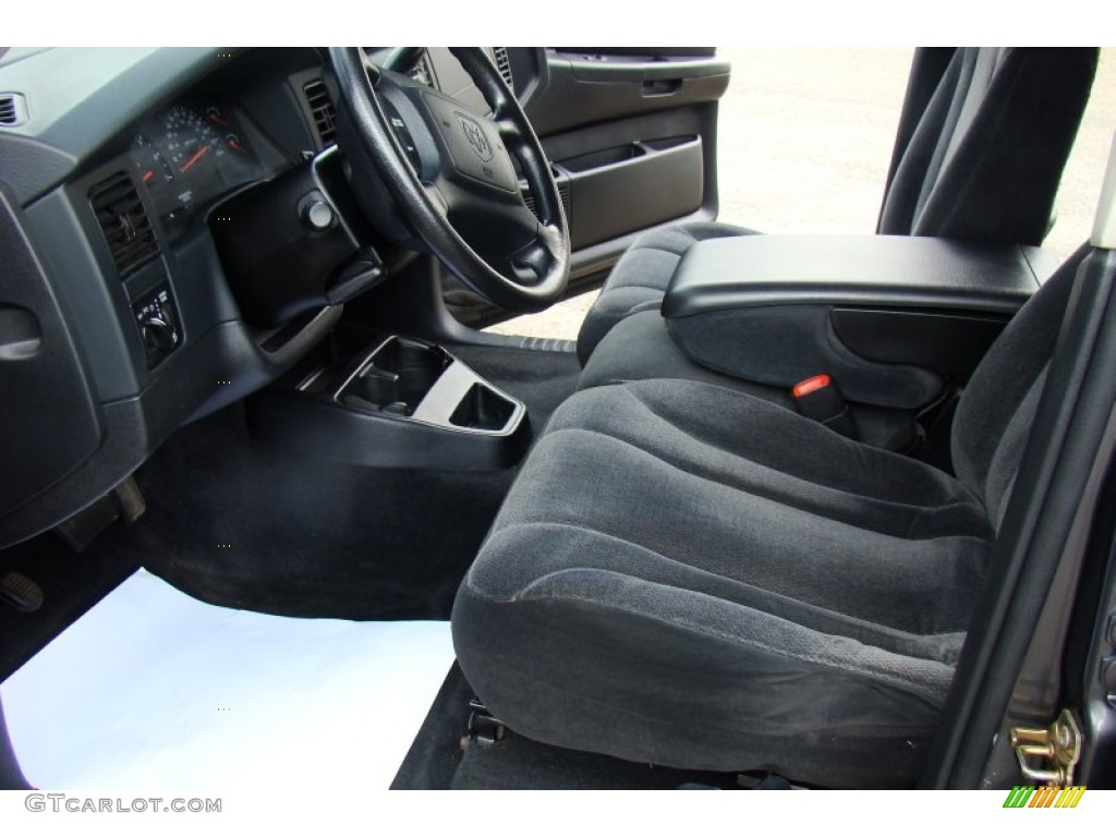 2004 Dakota SLT Quad Cab 4x4 - Graphite Metallic / Dark Slate Gray photo #16