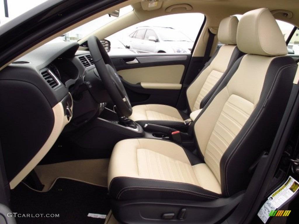 2 Tone Cornsilk Beige Black Interior 2014 Volkswagen Jetta Sel Sedan Photo 86357793 Gtcarlot Com