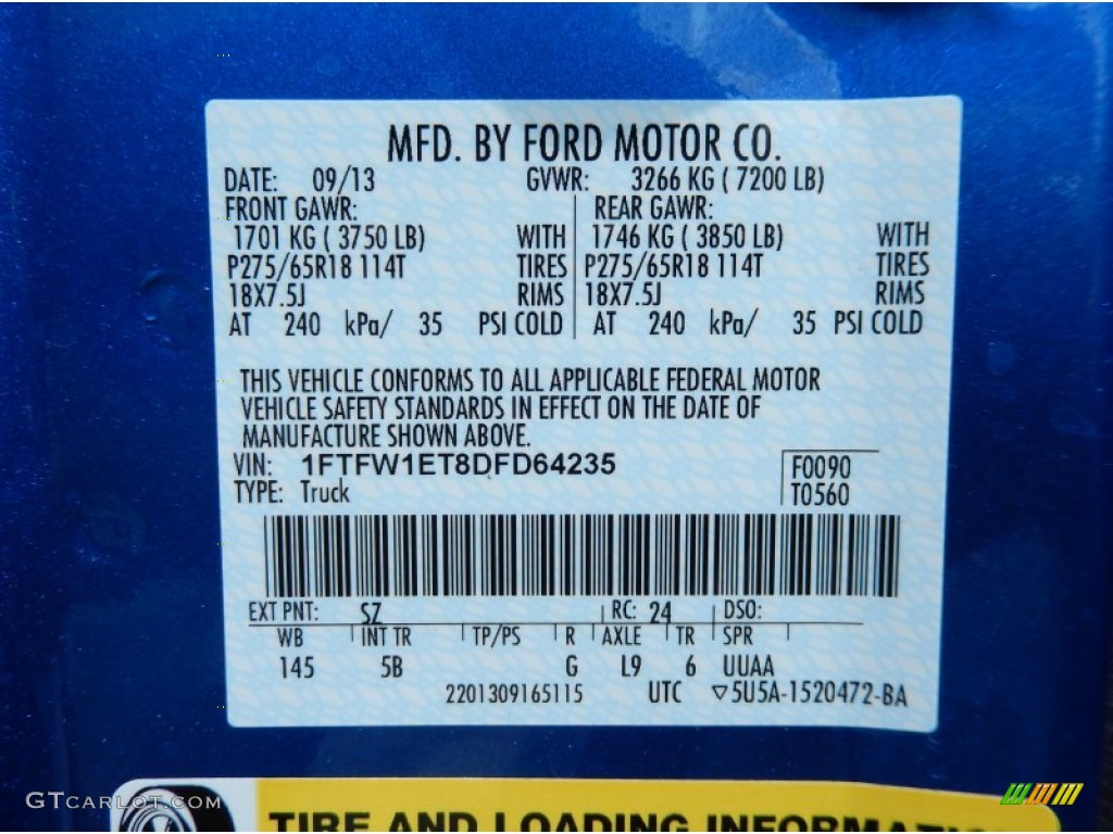 Ford F Paint Codes
