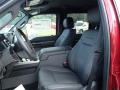 2014 Ford F250 Super Duty Platinum Black Leather Interior Front Seat Photo