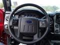 2014 Ford F250 Super Duty Platinum Black Leather Interior Steering Wheel Photo
