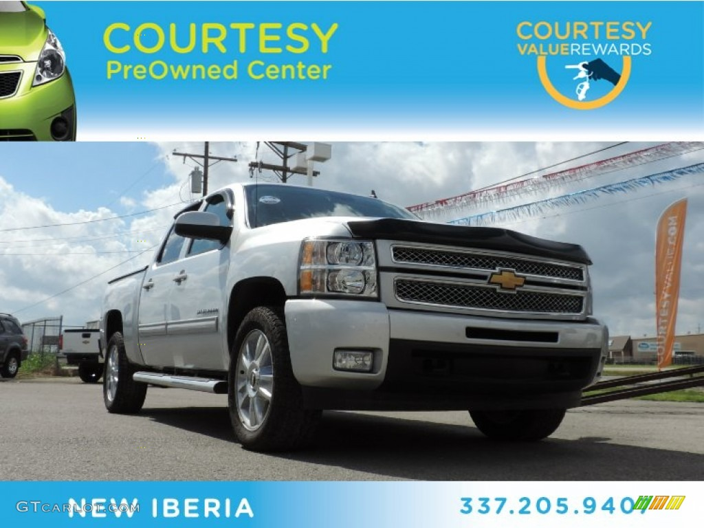 2013 Silverado 1500 LTZ Crew Cab 4x4 - Silver Ice Metallic / Light Titanium/Dark Titanium photo #1
