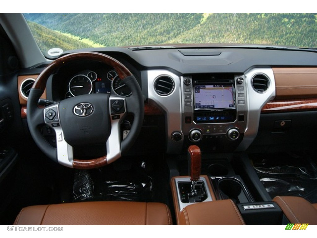 2014 Toyota Tundra 1794 Edition Crewmax 4x4 1794 Edition Premium Brown Dashboard Photo 86448474