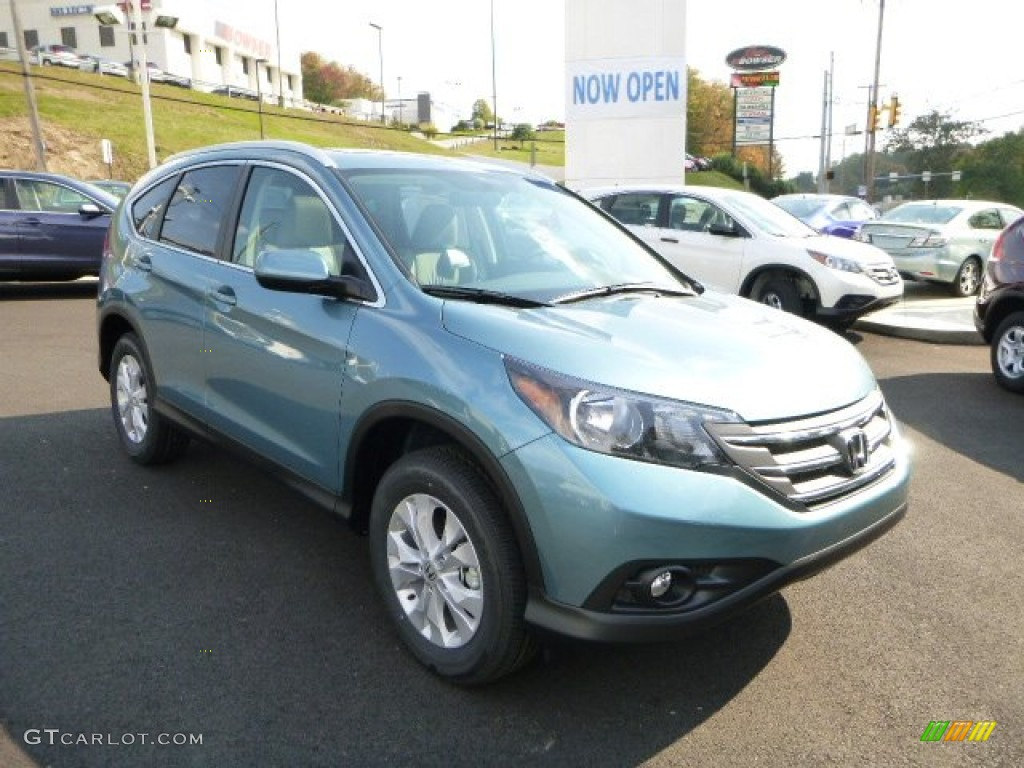 2014 CR-V EX-L AWD - Mountain Air Metallic / Beige photo #1