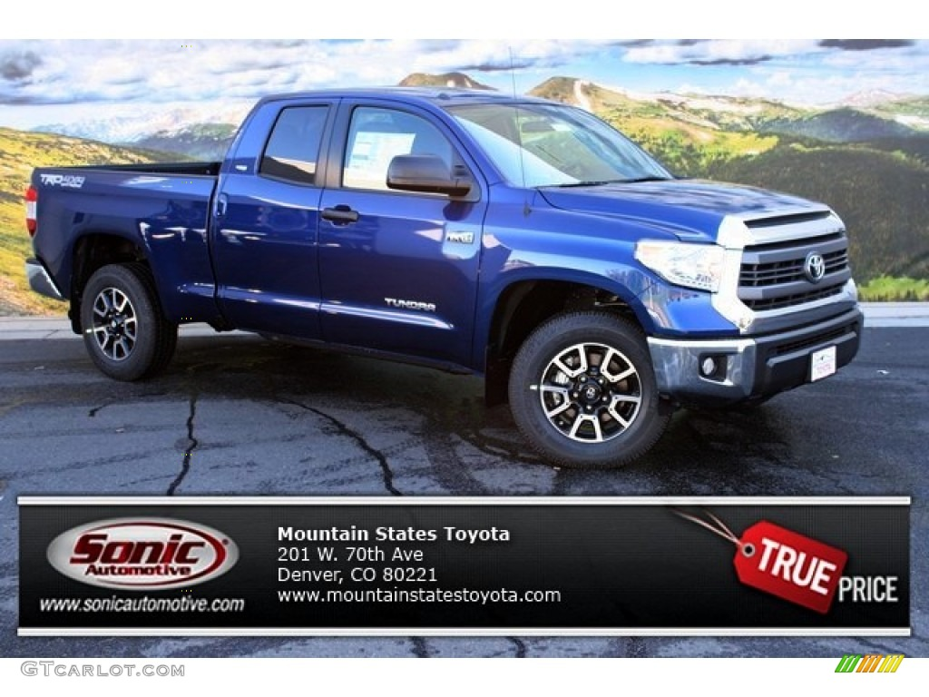 2014 Tundra SR5 Double Cab 4x4 - Blue Ribbon Metallic / Sand Beige photo #1