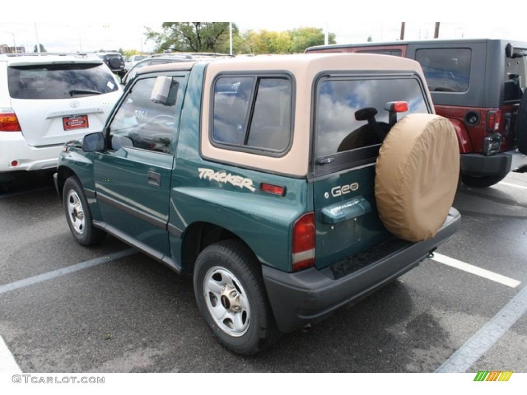 Slate green metallic 1997 geo tracker soft top 4x4 exterior photo 86523991