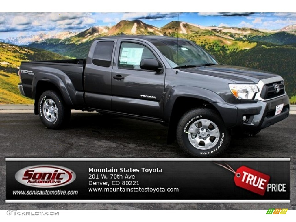 2014 magnetic gray metallic toyota tacoma v6 trd access cab 4x4 86505059 car. Black Bedroom Furniture Sets. Home Design Ideas