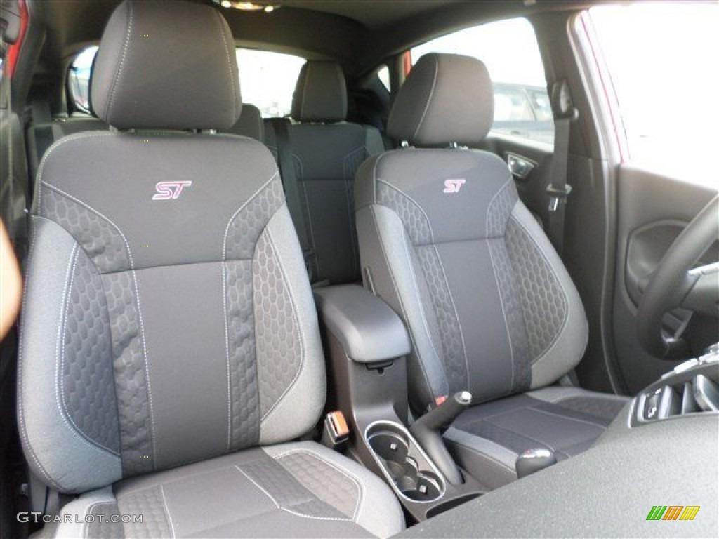 ST Charcoal Black Interior 2014 Ford Fiesta ST Hatchback Photo #86528598