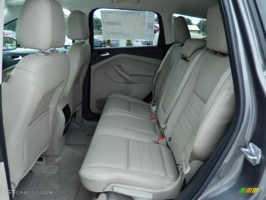 Medium Light Stone Interior 2014 Ford Escape Titanium 16L
