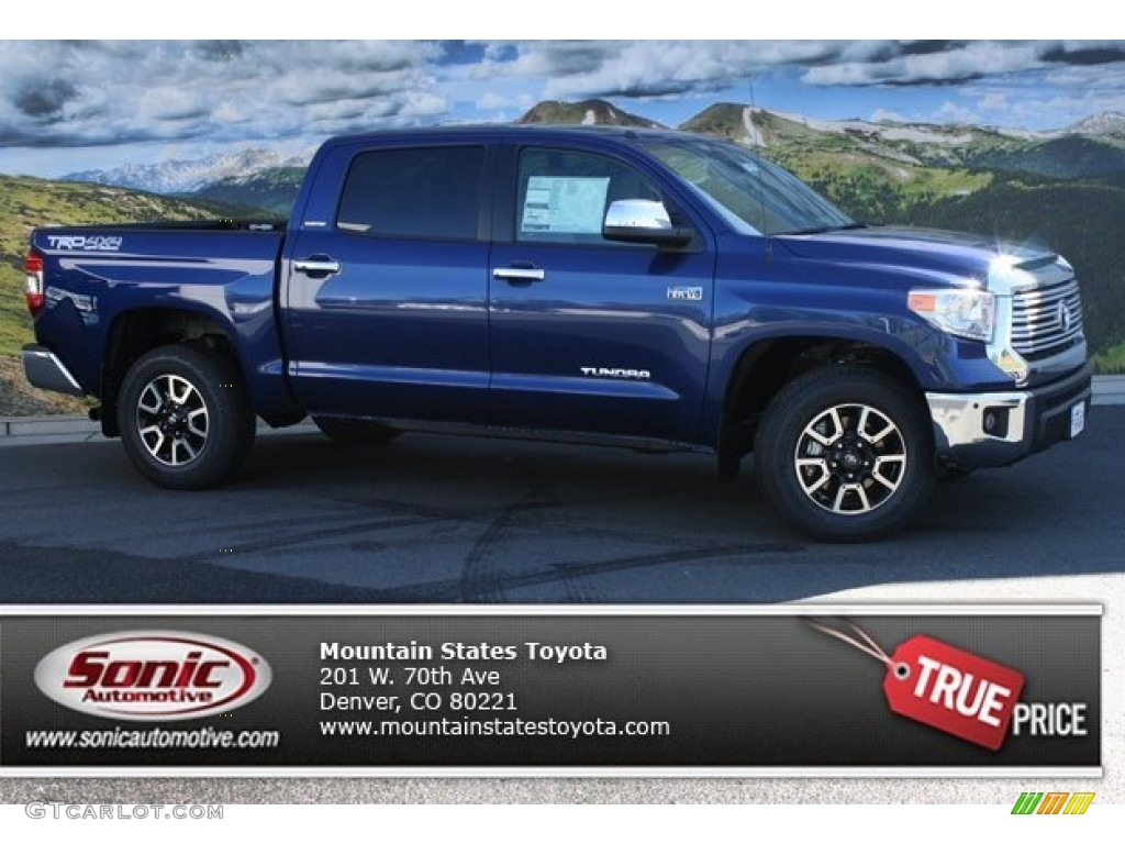 2014 Tundra Limited Crewmax 4x4 - Blue Ribbon Metallic / Sand Beige photo #1