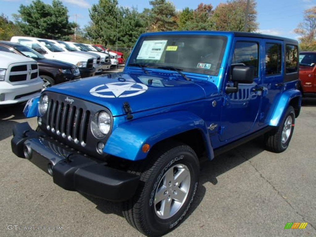 Hydro Blue Pearl 2014 Jeep Wrangler Unlimited Sport 4x4