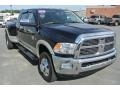 2010 Brilliant Black Crystal Pearl Dodge Ram 3500 Laramie Mega Cab 4x4 Dually #86559324