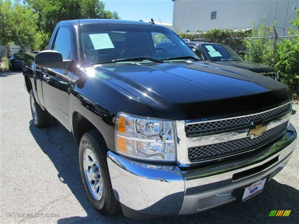 2012 Silverado 1500 LS Regular Cab - Black / Dark Titanium photo #1