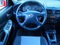 2004 Nissan Sentra SE-R Black/Silver Interior Steering Wheel Photo