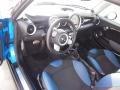 Pacific Blue Leather/Carbon Black 2010 Mini Cooper Interiors