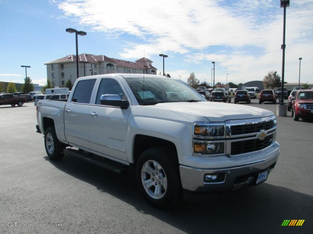 2014 white diamond tricoat chevrolet silverado 1500 ltz z71 crew cab 4x4 86615842 gtcarlot. Black Bedroom Furniture Sets. Home Design Ideas