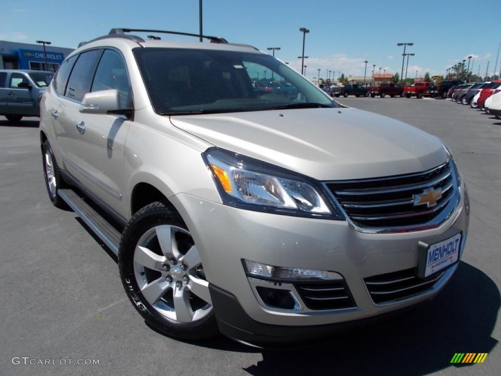 2014 champagne silver metallic chevrolet traverse ltz awd. Black Bedroom Furniture Sets. Home Design Ideas