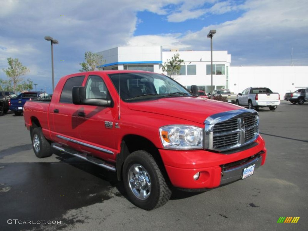 2009 Ram 3500 SLT Mega Cab 4x4 - Flame Red / Medium Slate Gray photo #1