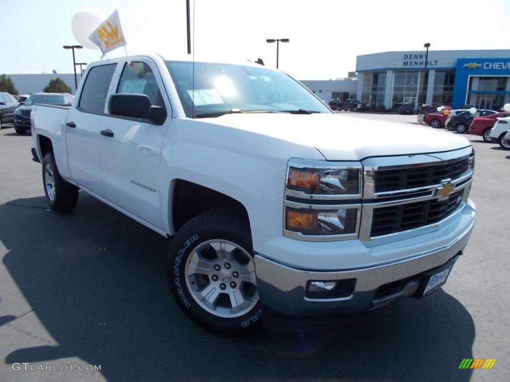 2014 summit white chevrolet silverado 1500 lt z71 crew cab 4x4 86615762 car. Black Bedroom Furniture Sets. Home Design Ideas