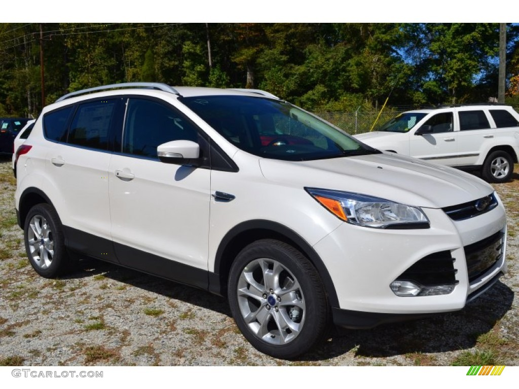 2014 Escape Titanium 1.6L EcoBoost - White Platinum / Charcoal Black photo #1