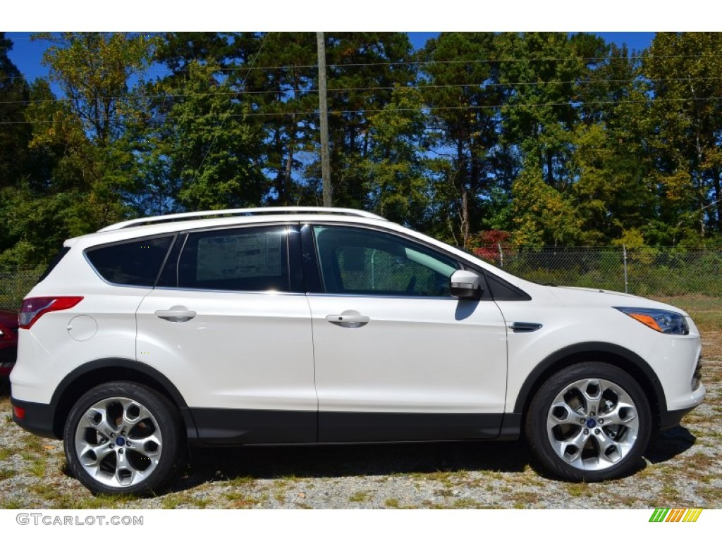 2014 Escape Titanium 2.0L EcoBoost - White Platinum / Medium Light Stone photo #2