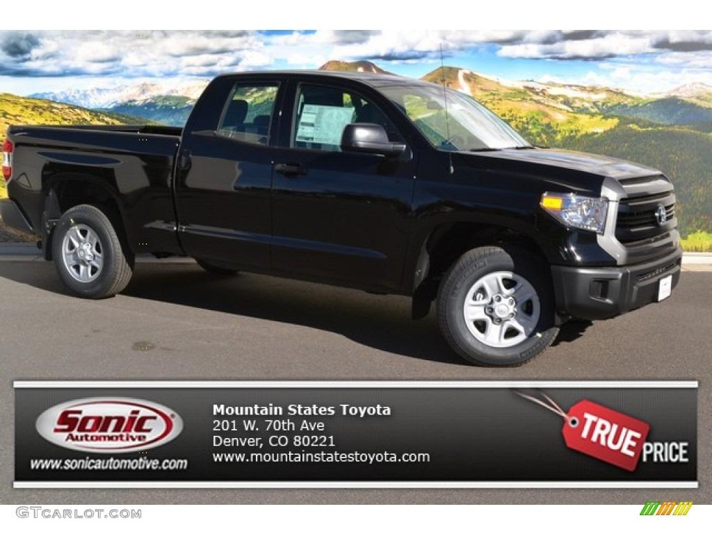 2014 Tundra SR Double Cab 4x4 - Black / Graphite photo #1