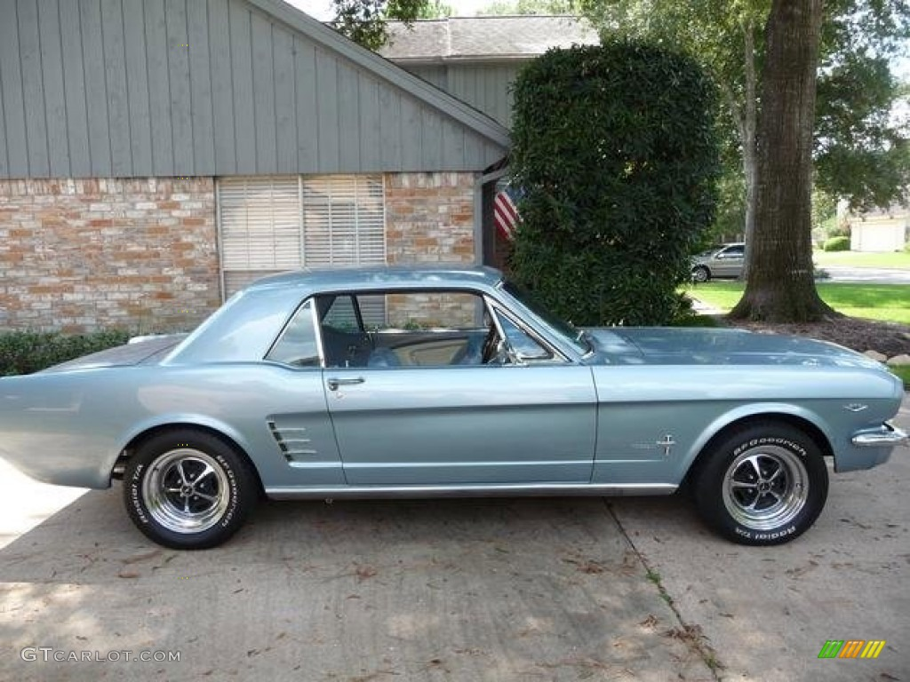 1966 Mustang Coupe Silver Blue Metallic Light Photo 1