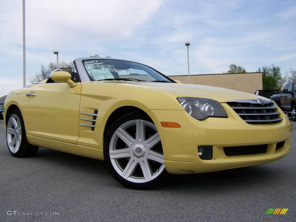 classic yellow chrysler crossfire limited roadster  gtcarlotcom car color