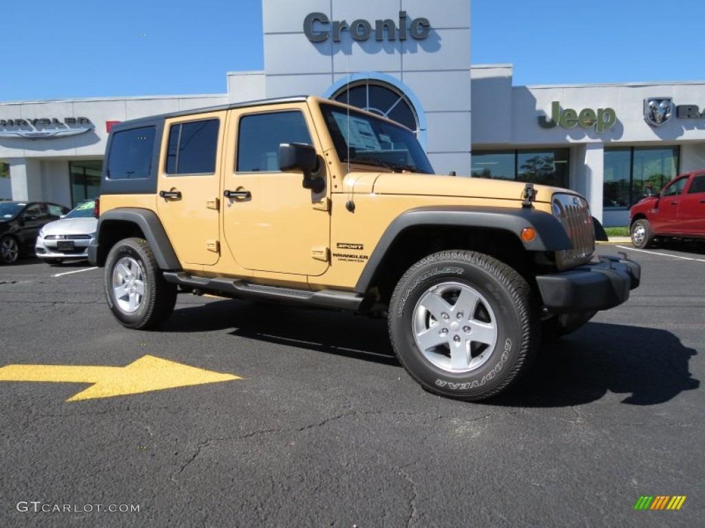 2014 Dune Jeep Wrangler Unlimited Sport 4x4  86676219