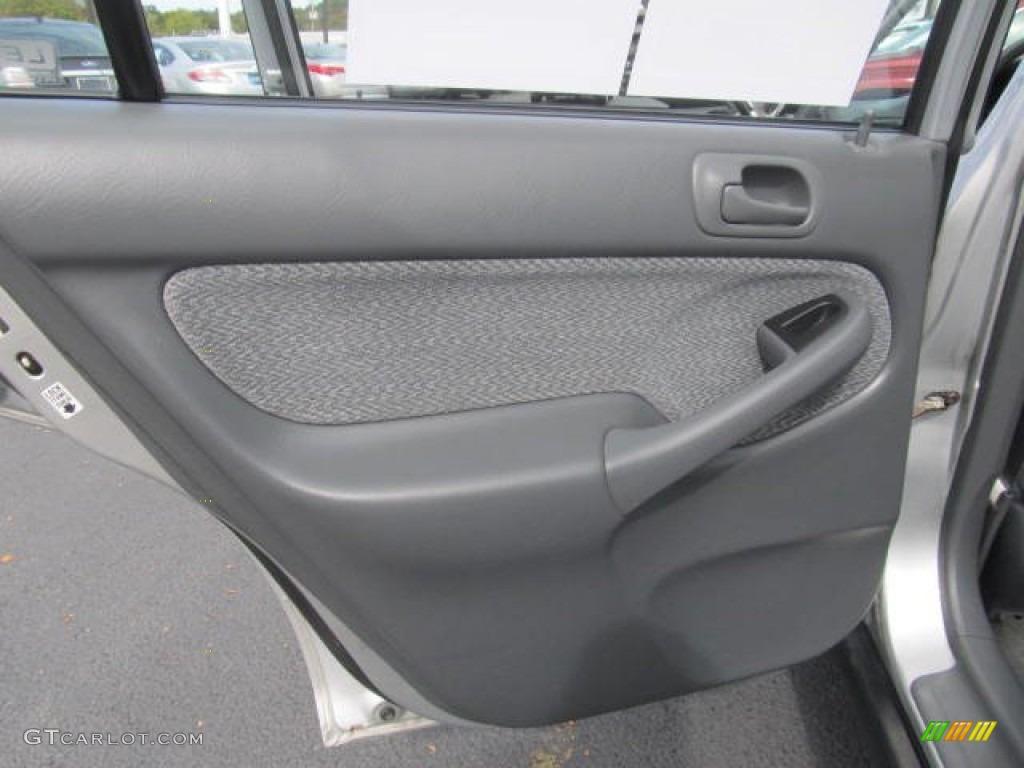 1999 Honda Civic Lx Sedan Gray Door Panel Photo 86701290
