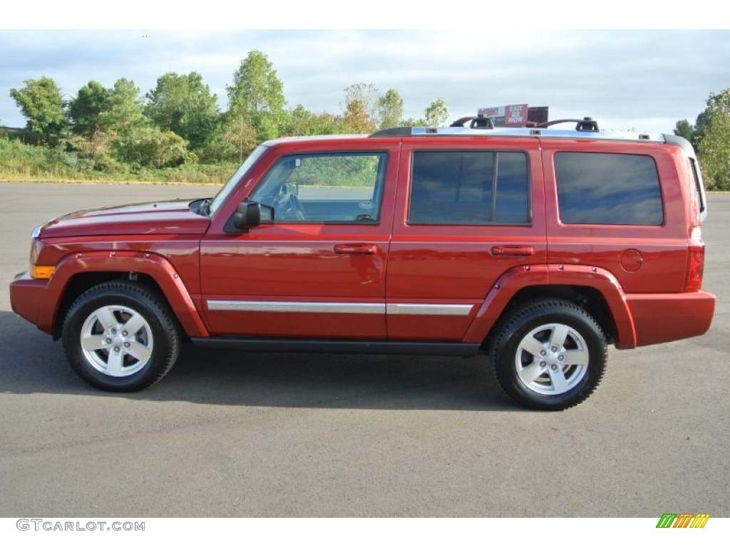 Inferno Red Pearl 2006 Jeep Commander Limited Exterior ...