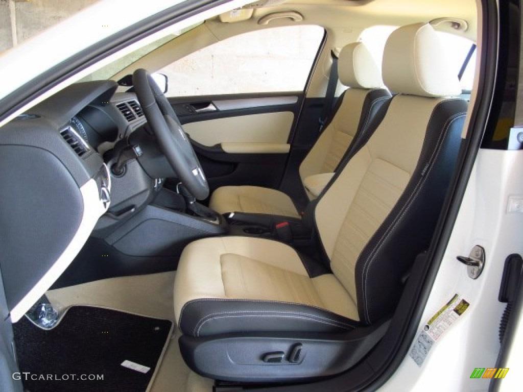 2 tone cornsilk beige black interior 2014 volkswagen jetta. Black Bedroom Furniture Sets. Home Design Ideas