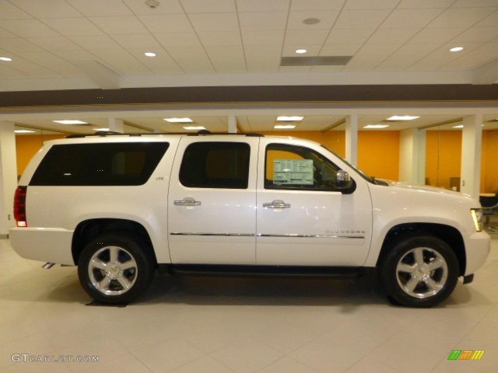 2014 White Diamond Tricoat Chevrolet Suburban Ltz 4x4 86779779 Photo 2 Car