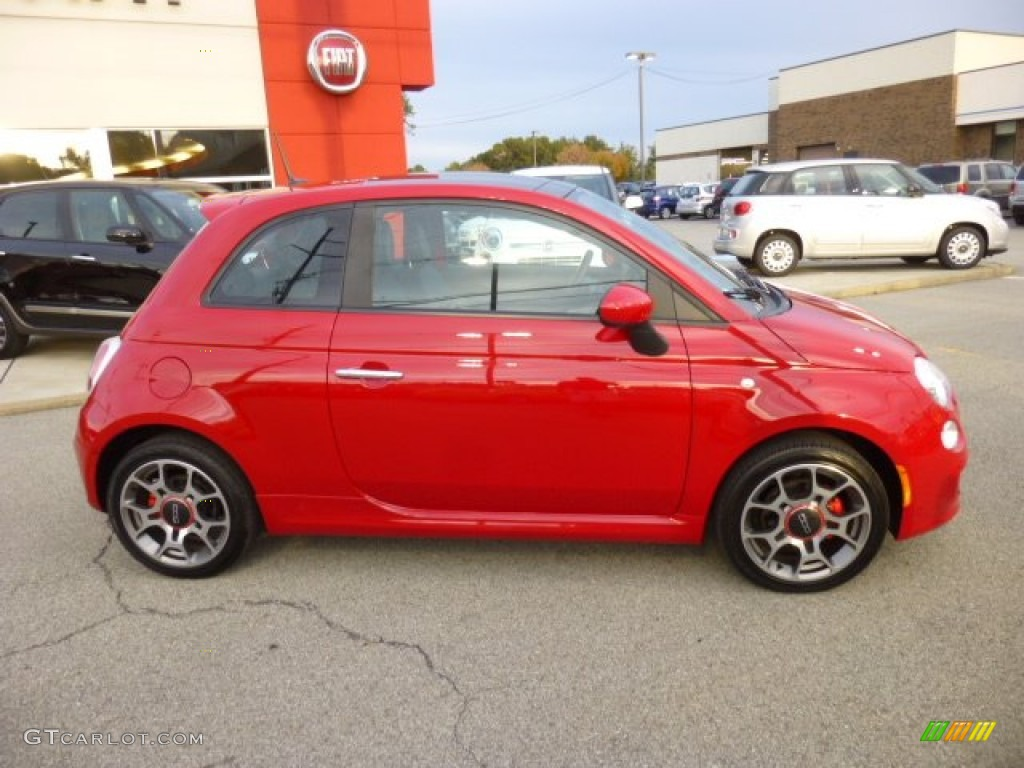 Rosso Red 2012 Fiat 500 Sport Exterior Photo 86821394