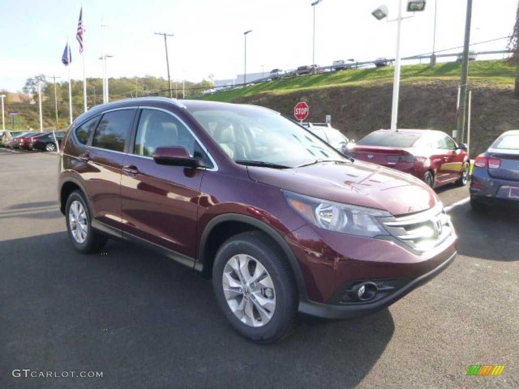 2014 CR-V EX-L AWD - Basque Red Pearl II / Gray photo #1