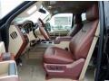 2014 Ford F250 Super Duty King Ranch Chaparral Leather/Adobe Trim Interior Interior Photo