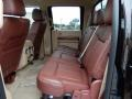 2014 Ford F250 Super Duty King Ranch Chaparral Leather/Adobe Trim Interior Rear Seat Photo