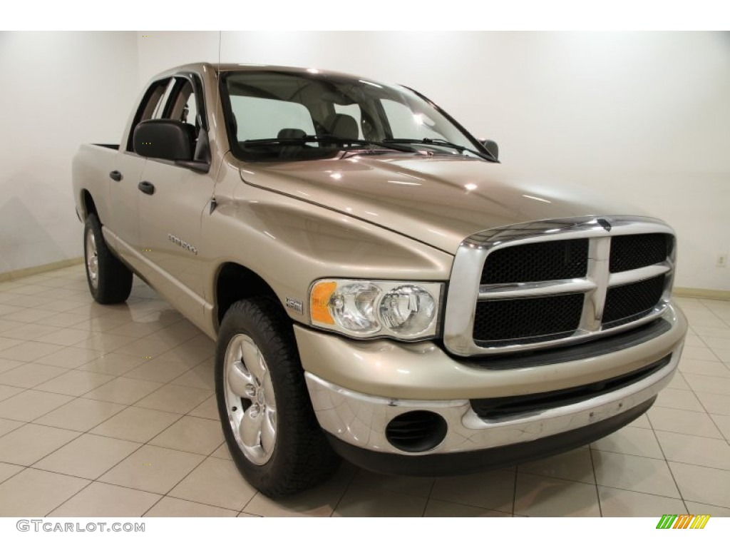 2004 Ram 1500 SLT Quad Cab 4x4 - Light Almond Pearl / Dark Slate Gray photo #1