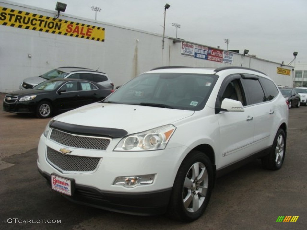 2009 summit white chevrolet traverse ltz awd 86892193 photo 12 car color. Black Bedroom Furniture Sets. Home Design Ideas