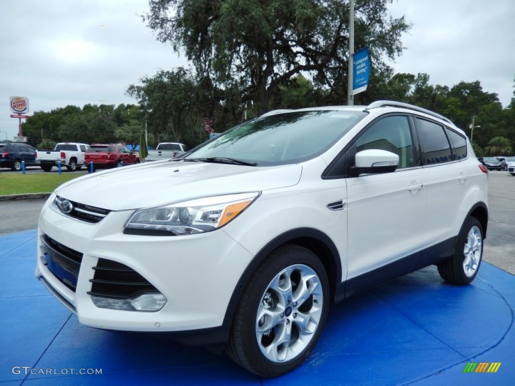2014 Escape Titanium 2.0L EcoBoost - White Platinum / Medium Light Stone photo #1