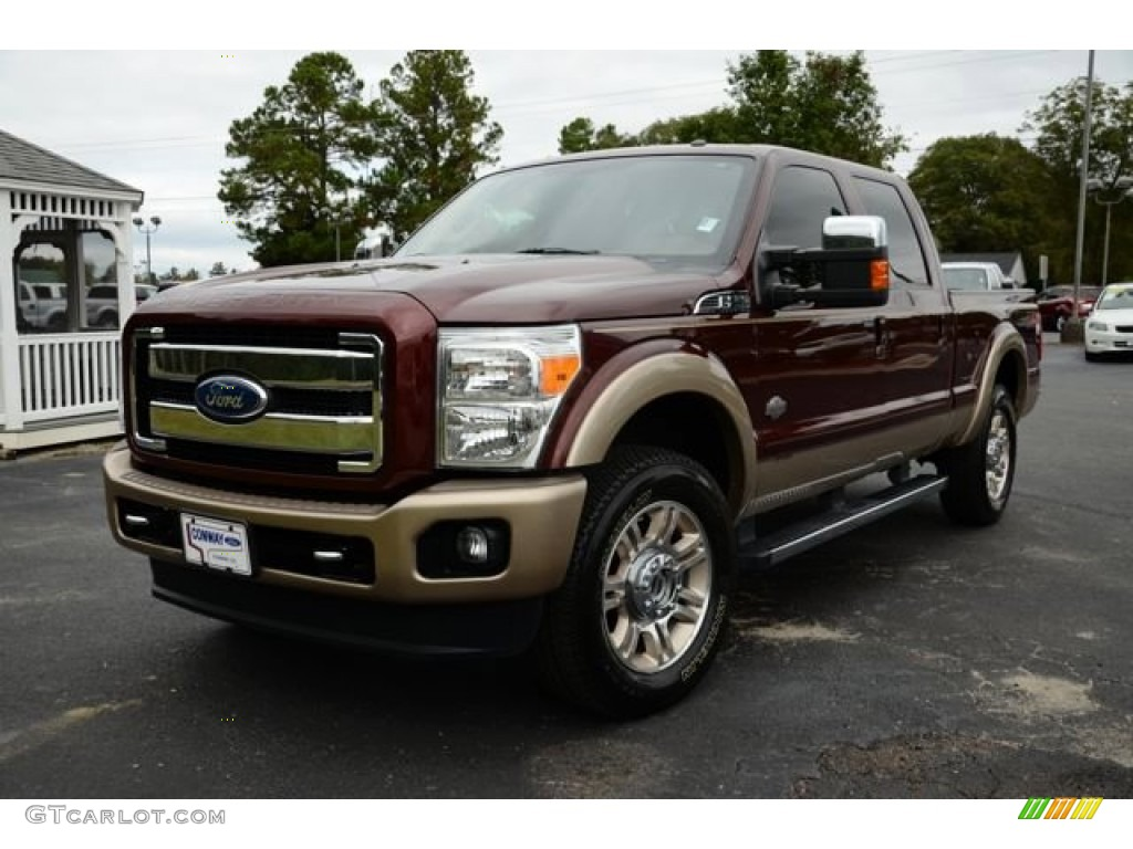 2011 royal red metallic ford f250 super duty king ranch crew cab 4x4 86937752. Black Bedroom Furniture Sets. Home Design Ideas
