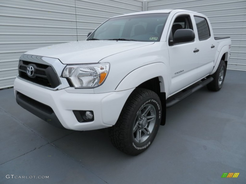 super white 2014 toyota tacoma tss v6 prerunner double cab exterior photo 86963671. Black Bedroom Furniture Sets. Home Design Ideas
