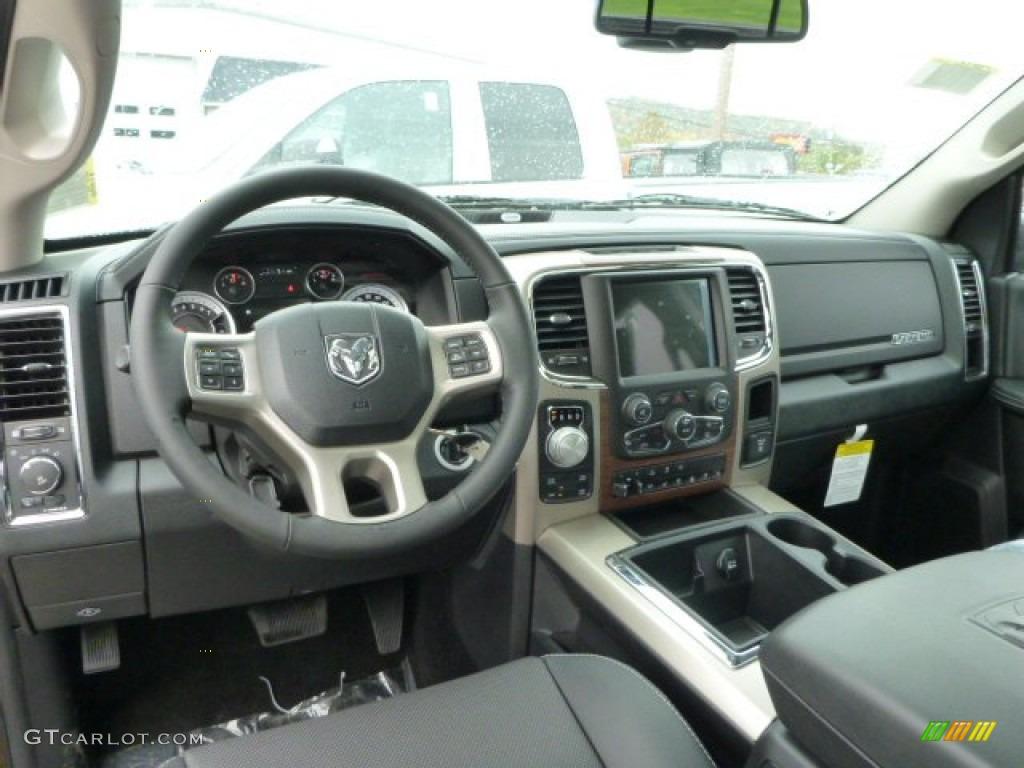 Black Interior 2014 Ram 1500 Laramie Crew Cab 4x4 Photo