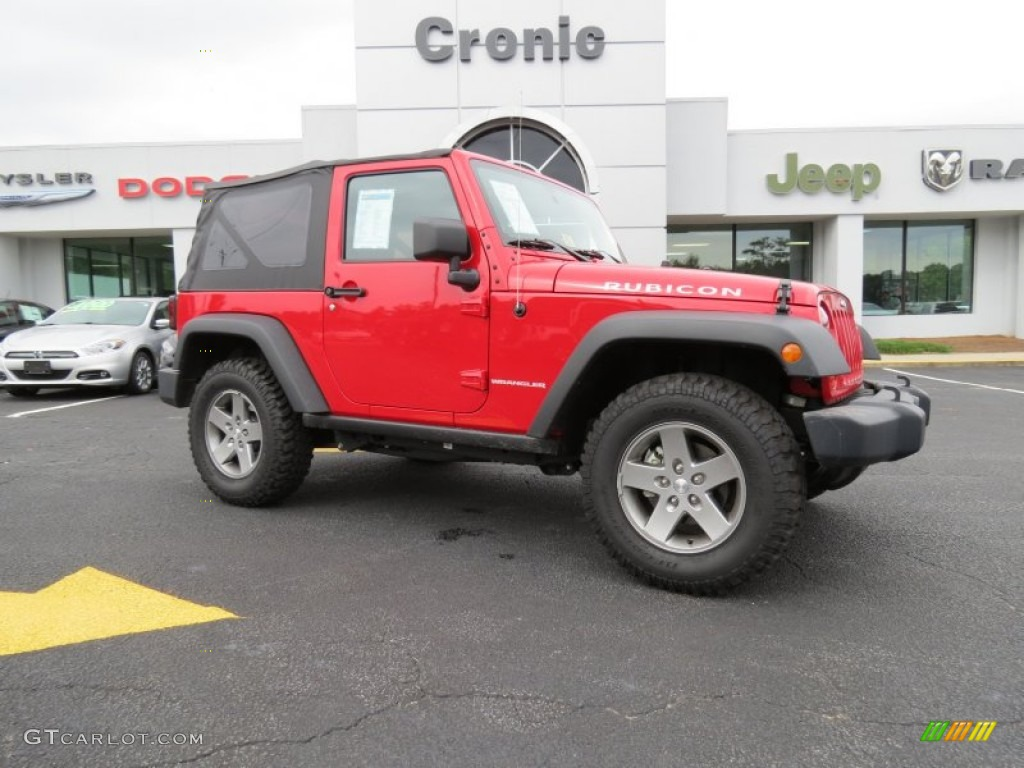 Flame Red Jeep Wrangler