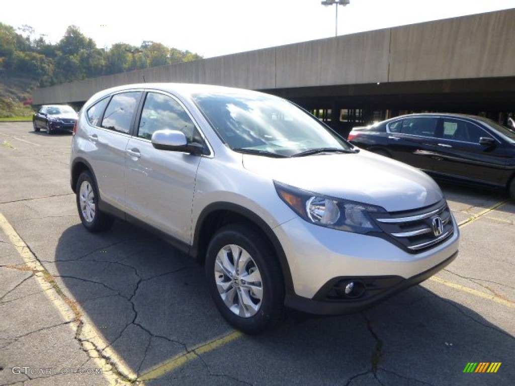 2014 CR-V EX AWD - Alabaster Silver Metallic / Gray photo #1